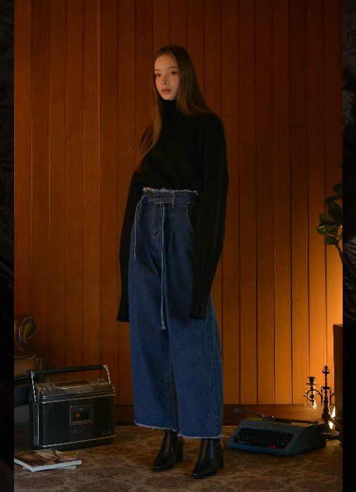 Belt Denim Pants