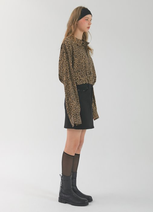 Leopard-printed Shirt_(brown)