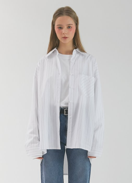 Pin Stripe Shirt_(white)