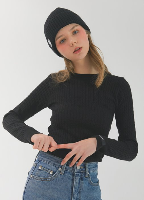 Label Tight Knit_(black)