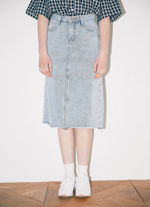 Midi Denim Skirt_(blue)