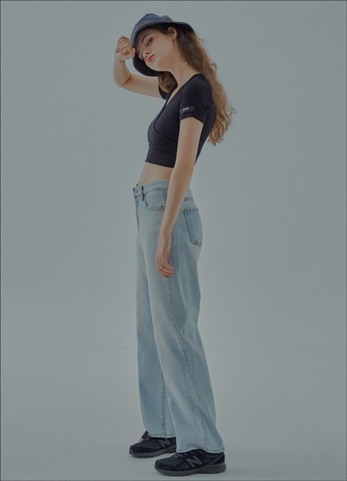 LOOSE DENIM PANTS (blue)