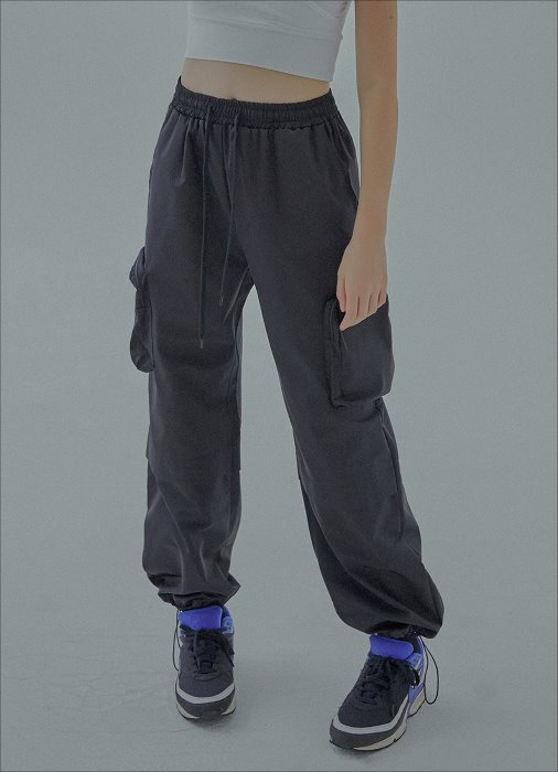 POCKET LOGO TECH PANTS (black)
