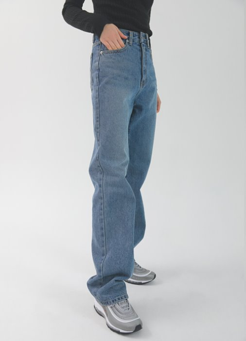 High Waist long Denim_(blue)