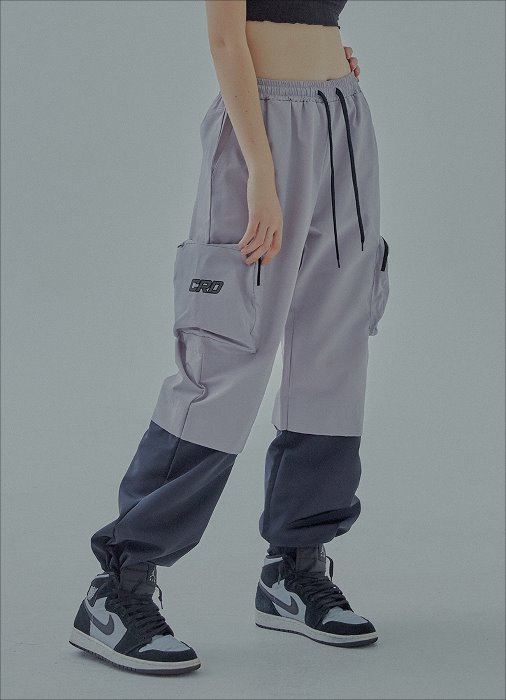 POCKET LOGO TECH PANTS (grey)