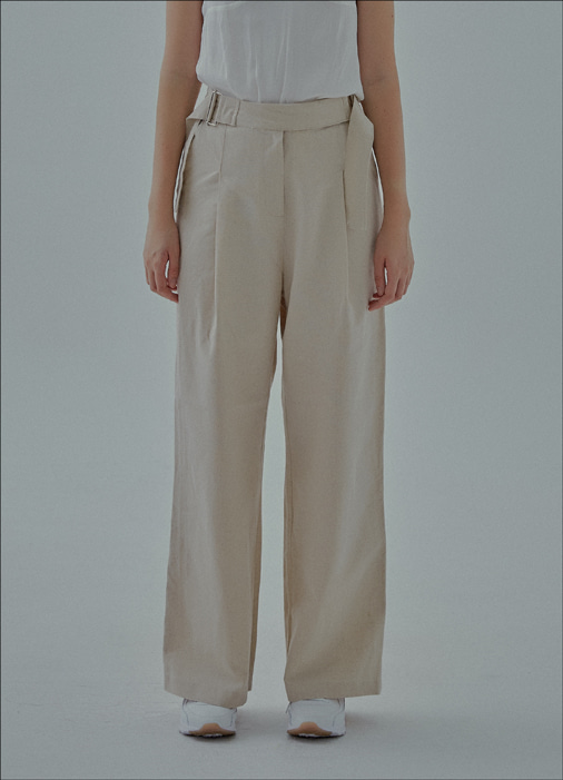 BELT PANTS (beige)