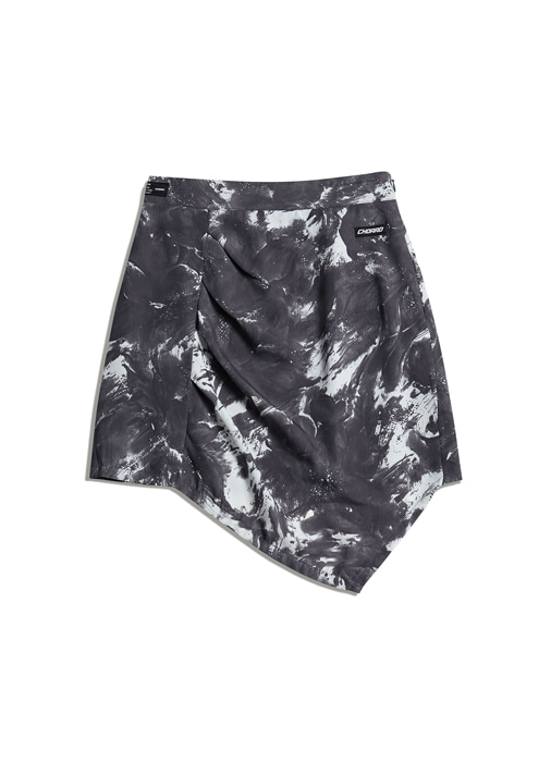 CRACK MINI SKIRT (grey)