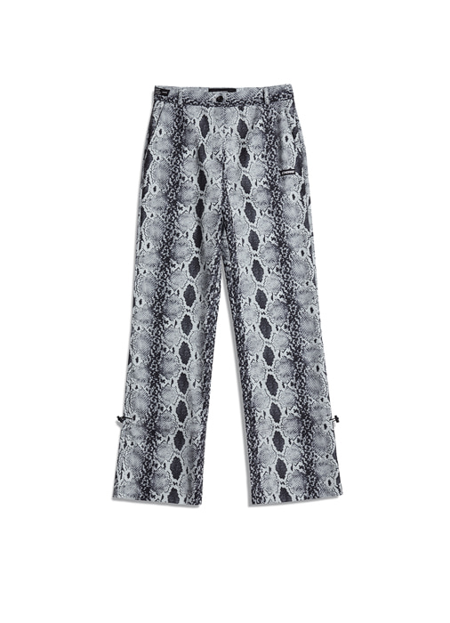 PYTHON ANKLE STRING PANTS (black)