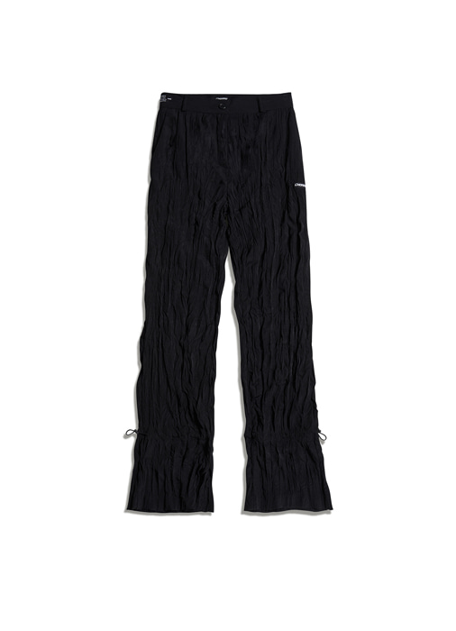 PLEATS ANKLE STRING PANTS (black)