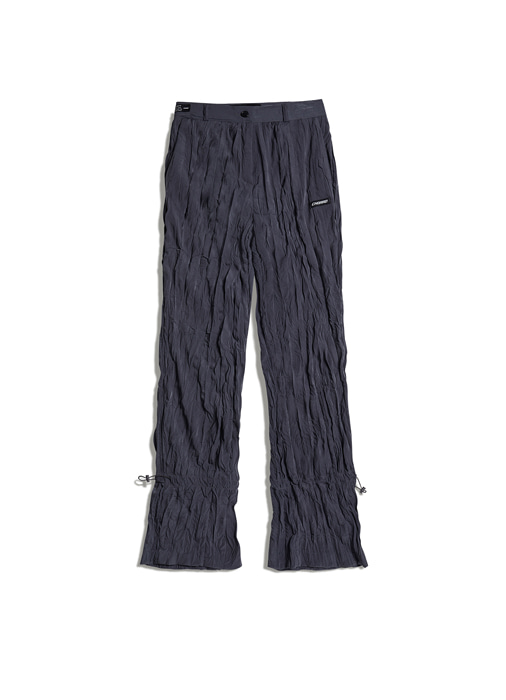 PLEATS ANKLE STRING PANTS (grey)