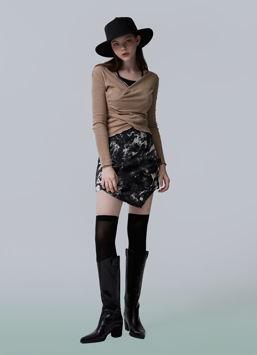 CRACK MINI SKIRT (black)